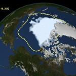 Новый рекордный минимум арктического морского льда