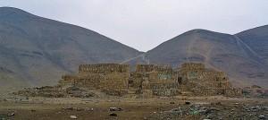 Руины  главной пирамиды Эль-Параисо