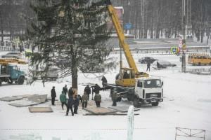 В Тагиле установили главную городскую елку