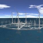 Морской ветропарк на плавучих платформах удешевляет энергию