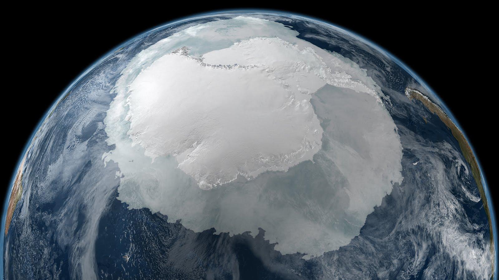 Антарктида покрыта реками